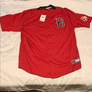 Nike Boston Red Sox Button Down Red Jersey